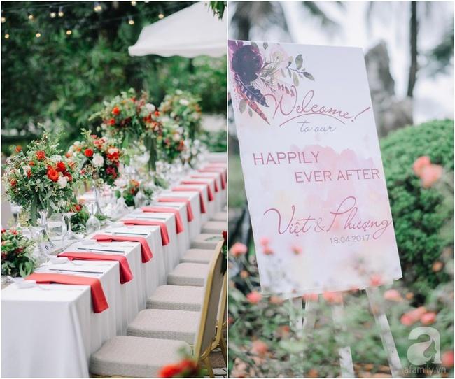 Cặp đôi Hà Thành trang trí tiệc cưới sân vườn với sắc đỏ đẹp như một giấc mơ về hạnh phúc - Ảnh 16.