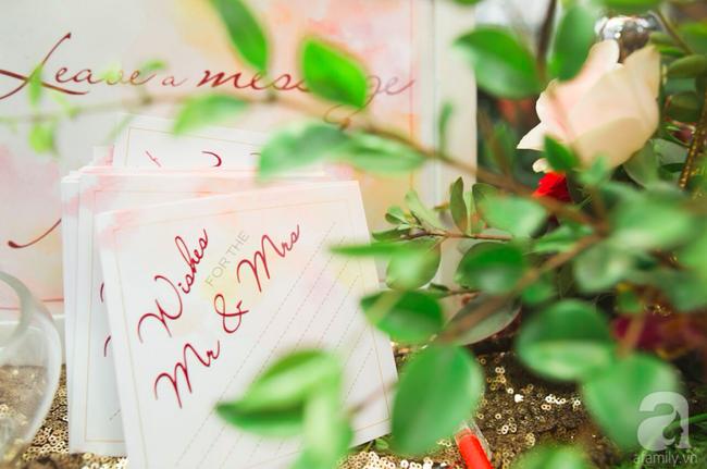 Cặp đôi Hà Thành trang trí tiệc cưới sân vườn với sắc đỏ đẹp như một giấc mơ về hạnh phúc - Ảnh 23.