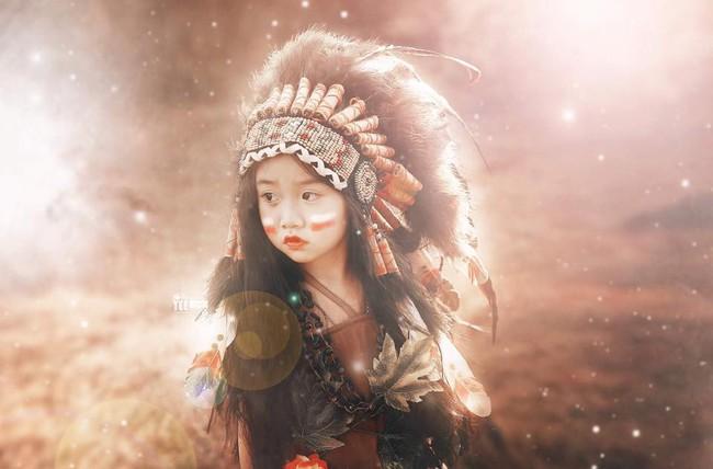 """""""Hoa khôi nhí"""" Tây Nguyên lại hóa nàng thổ dân xinh đẹp - Ảnh 2."""