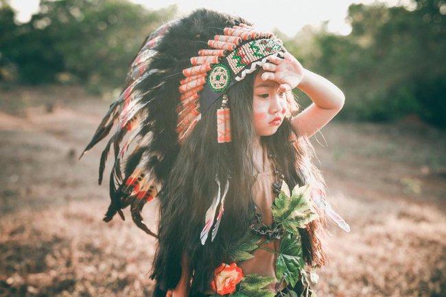 """""""Hoa khôi nhí"""" Tây Nguyên lại hóa nàng thổ dân xinh đẹp - Ảnh 6."""