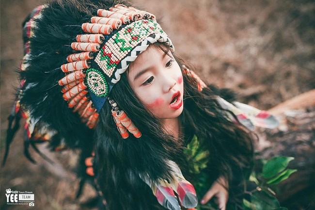 """""""Hoa khôi nhí"""" Tây Nguyên lại hóa nàng thổ dân xinh đẹp - Ảnh 10."""