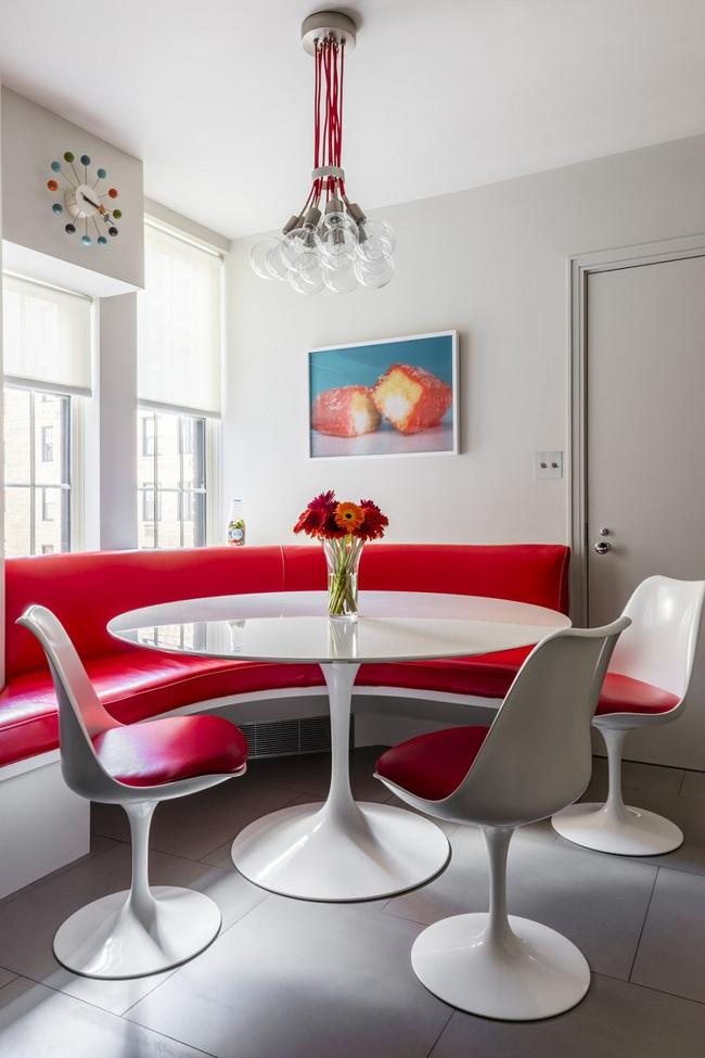 Bàn tròn - lời giải đúng dành cho các thiết kế phòng bếp có diện tích chật hẹp - Ảnh 1.