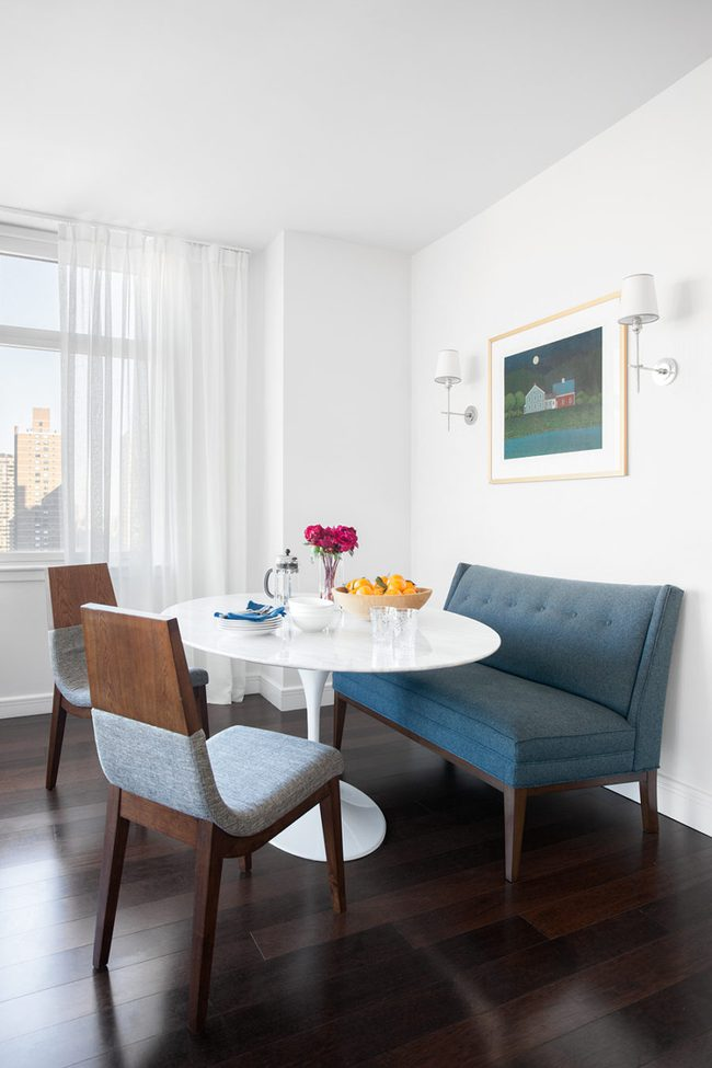 Bàn tròn - lời giải đúng dành cho các thiết kế phòng bếp có diện tích chật hẹp - Ảnh 6.
