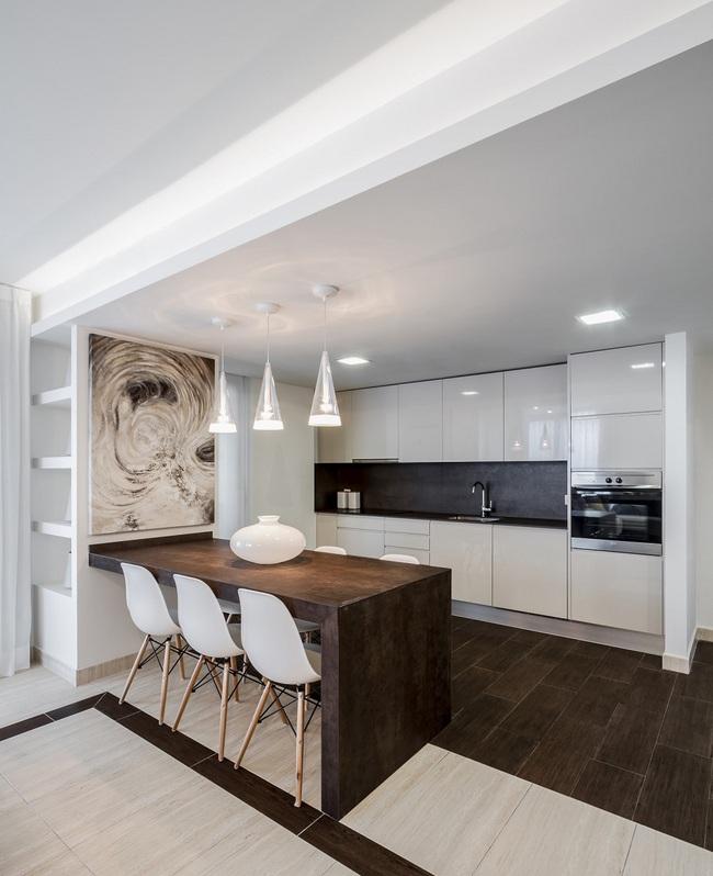Chưa bao giờ thiết kế phòng bếp đơn giản thế, chỉ một cái bàn nhỏ bạn đã có cho riêng mình một thế giới rồi - Ảnh 3.