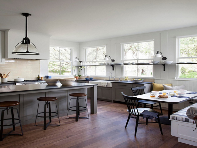 Bàn ăn dáng dài kết hợp chất liệu gạch đá, kỉ nguyên mới cho những nhà bếp theo phong cách hiện đại - Ảnh 5.