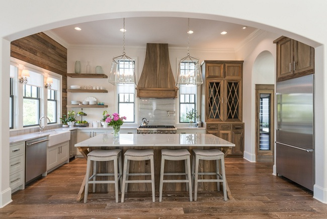 Bàn ăn dáng dài kết hợp chất liệu gạch đá, kỉ nguyên mới cho những nhà bếp theo phong cách hiện đại - Ảnh 7.