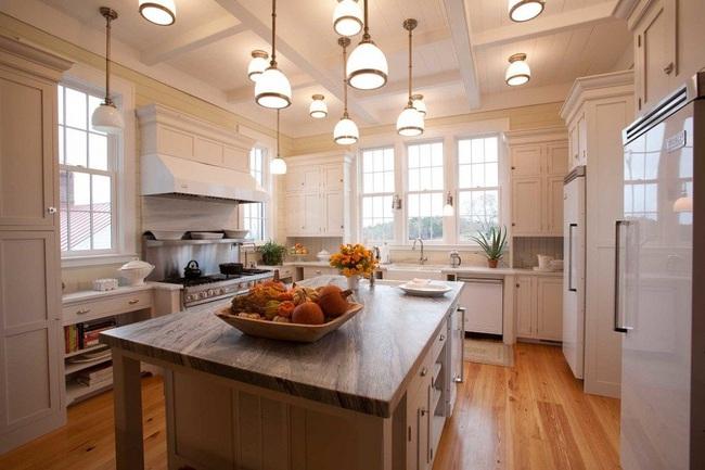 Bàn ăn dáng dài kết hợp chất liệu gạch đá, kỉ nguyên mới cho những nhà bếp theo phong cách hiện đại - Ảnh 8.