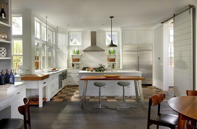 Bàn ăn dáng dài kết hợp chất liệu gạch đá, kỉ nguyên mới cho những nhà bếp theo phong cách hiện đại - Ảnh 13.