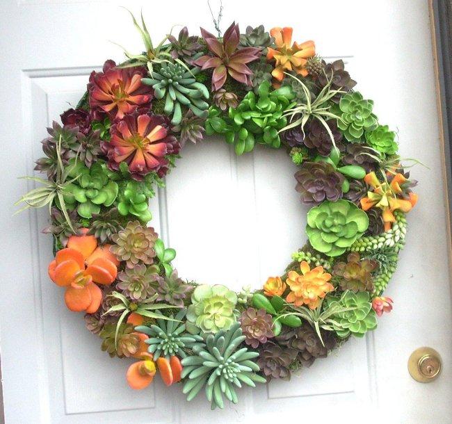 Ý tưởng làm vòng treo trang trí vườn vừa đơn giản vừa đẹp từ những cây mọng nước  - Ảnh 6.
