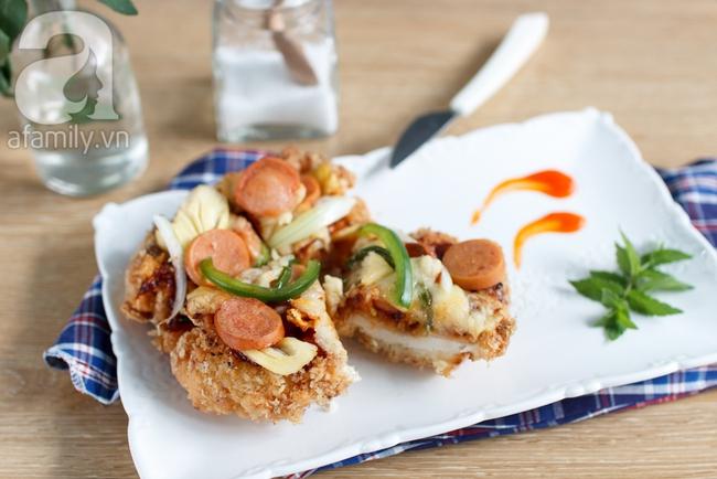 Trổ tài làm ngay Chizza - món gà rán phủ phô mai siêu hot - Ảnh 9.