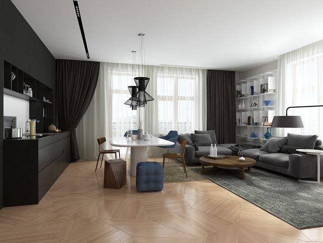 Thiết kế căn hộ phong cách cổ điển