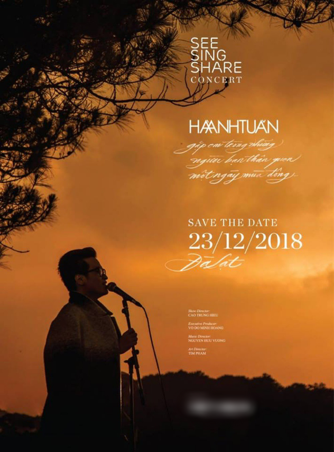 Fan phát cuồng trước tin Hà Anh Tuấn tổ chức concert See Sing Share tại Đà Lạt vào tháng 12 - Ảnh 2.