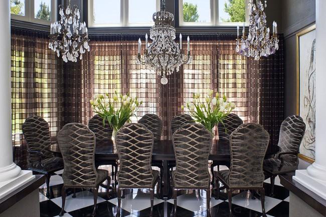 Tuyệt chiêu lựa chọn rèm cửa để nâng tầm vẻ đẹp của căn phòng ăn gia đình để đón xuân mới - Ảnh 14.