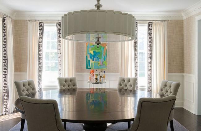 Tuyệt chiêu lựa chọn rèm cửa để nâng tầm vẻ đẹp của căn phòng ăn gia đình để đón xuân mới - Ảnh 15.