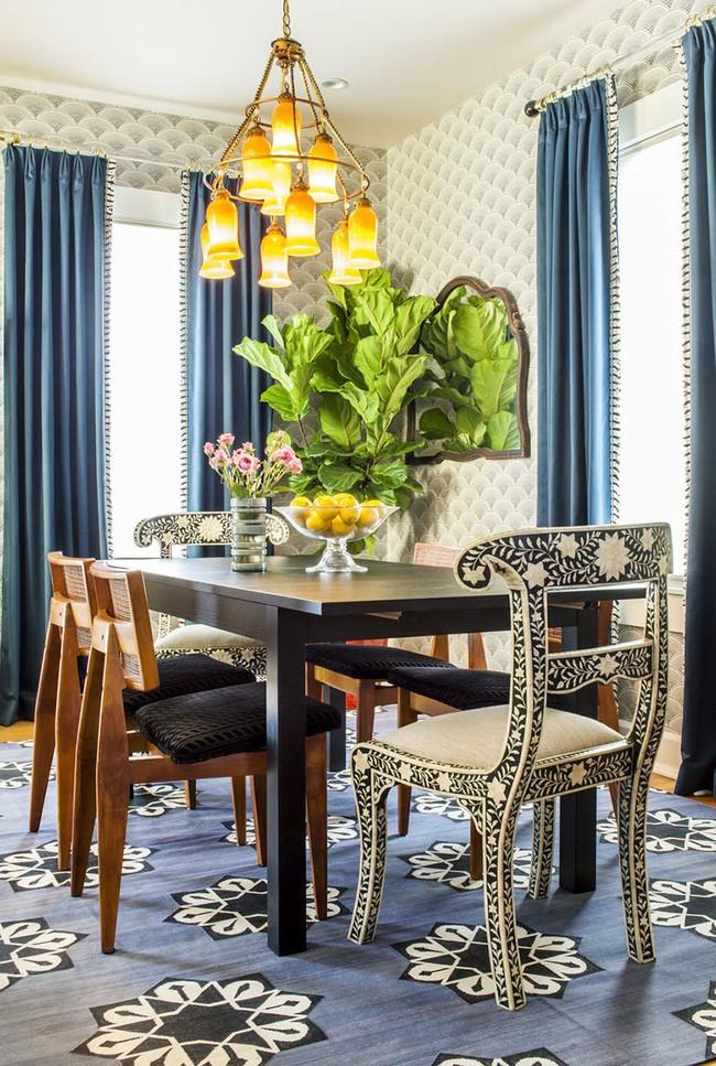 Tuyệt chiêu lựa chọn rèm cửa để nâng tầm vẻ đẹp của căn phòng ăn gia đình để đón xuân mới - Ảnh 16.