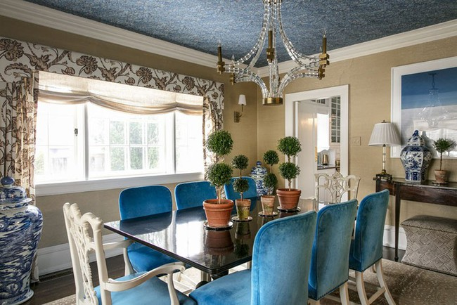 Tuyệt chiêu lựa chọn rèm cửa để nâng tầm vẻ đẹp của căn phòng ăn gia đình để đón xuân mới - Ảnh 2.