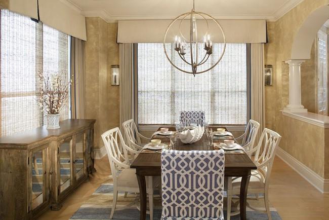 Tuyệt chiêu lựa chọn rèm cửa để nâng tầm vẻ đẹp của căn phòng ăn gia đình để đón xuân mới - Ảnh 6.