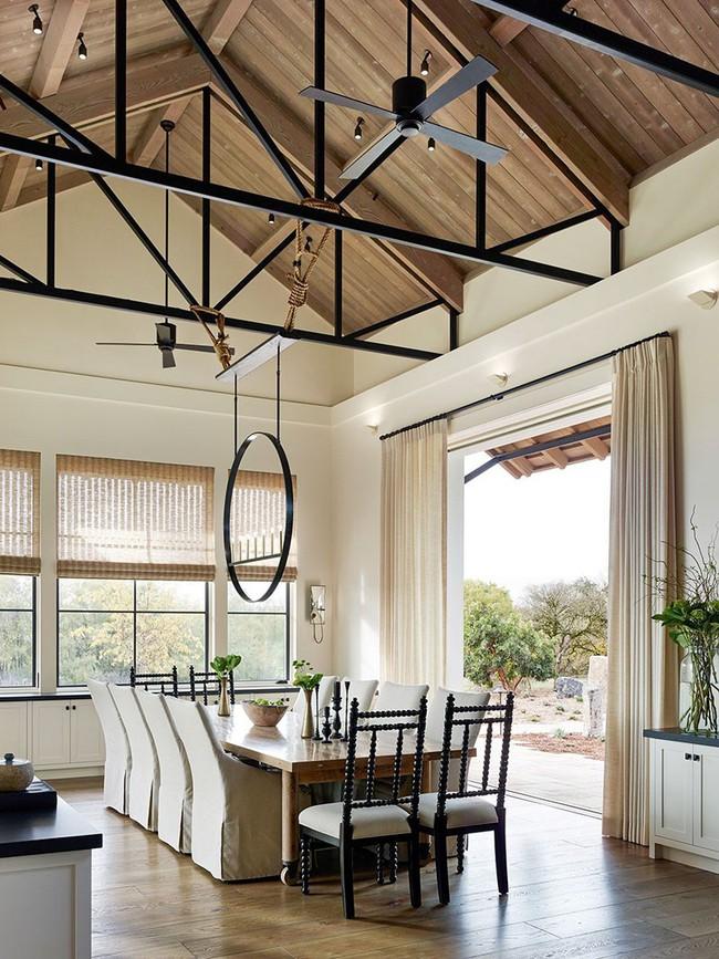 Tuyệt chiêu lựa chọn rèm cửa để nâng tầm vẻ đẹp của căn phòng ăn gia đình để đón xuân mới - Ảnh 8.
