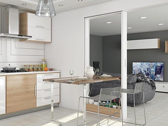 10 thiết kế bàn gấp giúp gia chủ tiết kiệm được diện tích sống tối đa - Ảnh 7.