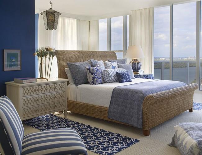Đừng ngại tạo cho mình một không gian thư giãn yên bình với gam màu xanh lam - Ảnh 9.