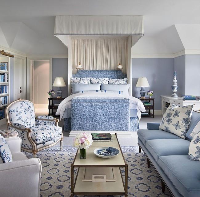 Đừng ngại tạo cho mình một không gian thư giãn yên bình với gam màu xanh lam - Ảnh 10.
