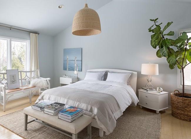 Đừng ngại tạo cho mình một không gian thư giãn yên bình với gam màu xanh lam - Ảnh 11.