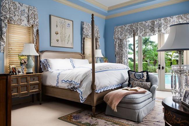 Đừng ngại tạo cho mình một không gian thư giãn yên bình với gam màu xanh lam - Ảnh 14.