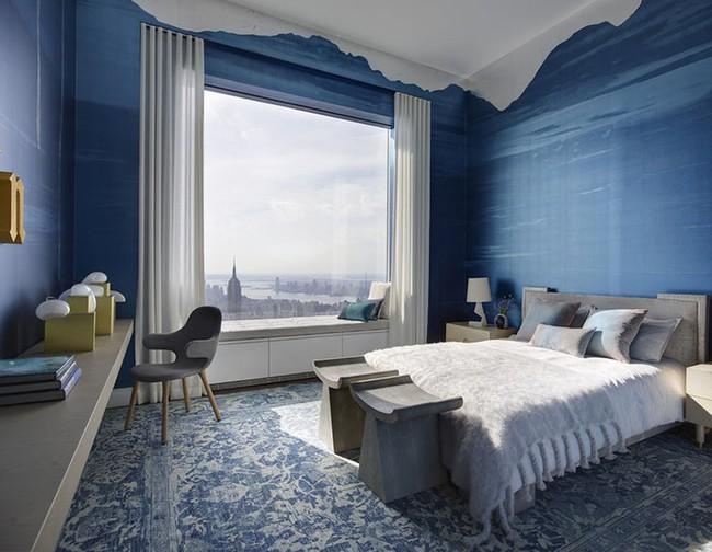 Đừng ngại tạo cho mình một không gian thư giãn yên bình với gam màu xanh lam - Ảnh 16.
