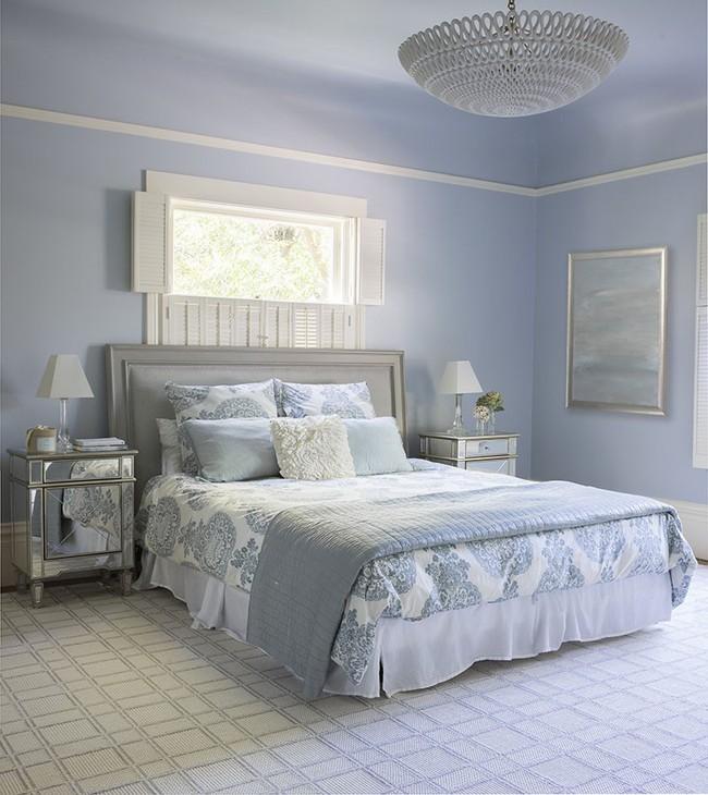 Đừng ngại tạo cho mình một không gian thư giãn yên bình với gam màu xanh lam - Ảnh 2.