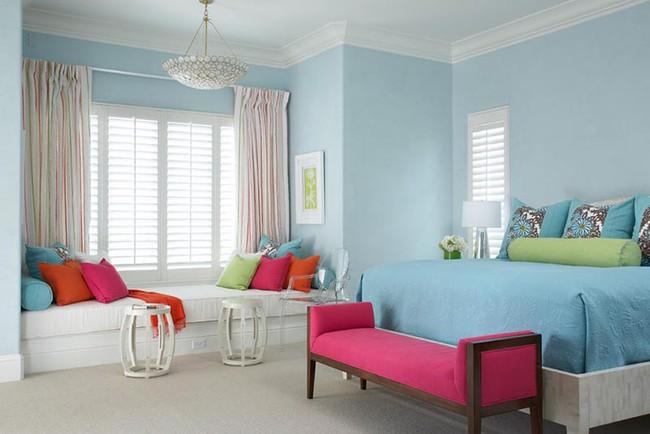Đừng ngại tạo cho mình một không gian thư giãn yên bình với gam màu xanh lam - Ảnh 19.