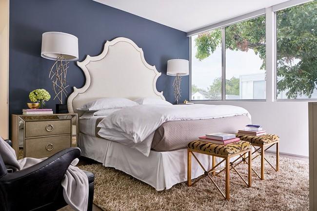 Đừng ngại tạo cho mình một không gian thư giãn yên bình với gam màu xanh lam - Ảnh 4.