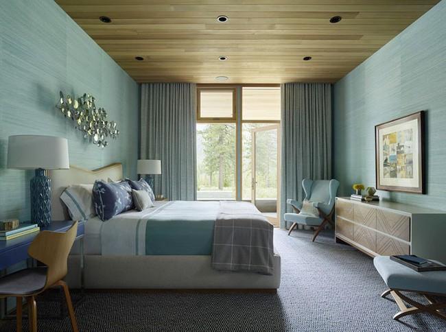 Đừng ngại tạo cho mình một không gian thư giãn yên bình với gam màu xanh lam - Ảnh 6.