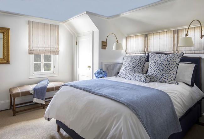 Đừng ngại tạo cho mình một không gian thư giãn yên bình với gam màu xanh lam - Ảnh 7.