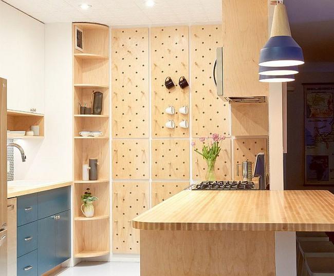 Nhanh tay sử dụng thiết kế bảng đục lỗ đang ngày càng hot để lưu trữ đồ gia dụng siêu gọn cho nhà bếp  - Ảnh 2.