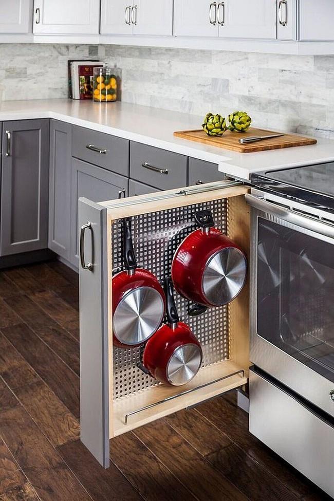 Nhanh tay sử dụng thiết kế bảng đục lỗ đang ngày càng hot để lưu trữ đồ gia dụng siêu gọn cho nhà bếp  - Ảnh 5.