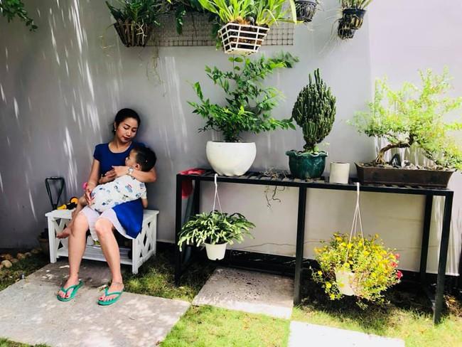 Vườn rau xanh tươi mơn mởn trong biệt thự tiền tỷ do chồng Ốc Thanh Vân trồng tặng 4 mẹ con - Ảnh 16.