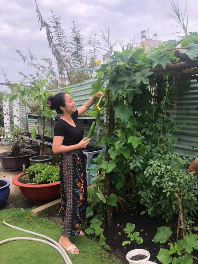 Vườn rau xanh tươi mơn mởn trong biệt thự tiền tỷ do chồng Ốc Thanh Vân trồng tặng 4 mẹ con - Ảnh 7.