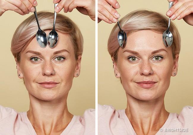 Massage chống lão hóa kiểu châu Á: Chỉ dùng thìa mà sau 2 tuần đã có da mặt căng mọng, khỏe mạnh không nếp nhăn - Ảnh 7.