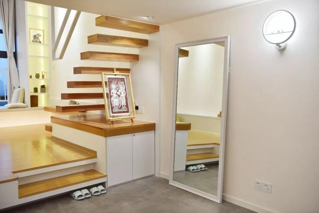 Căn hộ 52m² đẹp ấn tượng với cách bố trí nội thất giật cấp của vợ chồng trẻ - Ảnh 3.