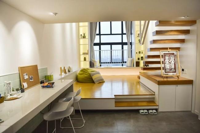 Căn hộ 52m² đẹp ấn tượng với cách bố trí nội thất giật cấp của vợ chồng trẻ - Ảnh 8.