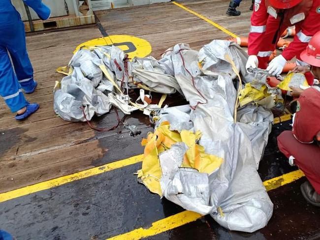 Hiện trường thảm khốc vụ máy bay chở 189 hành khách rơi xuống biển ở Indonesia, thi thể hành khách đầu tiên được tìm thấy - Ảnh 10.