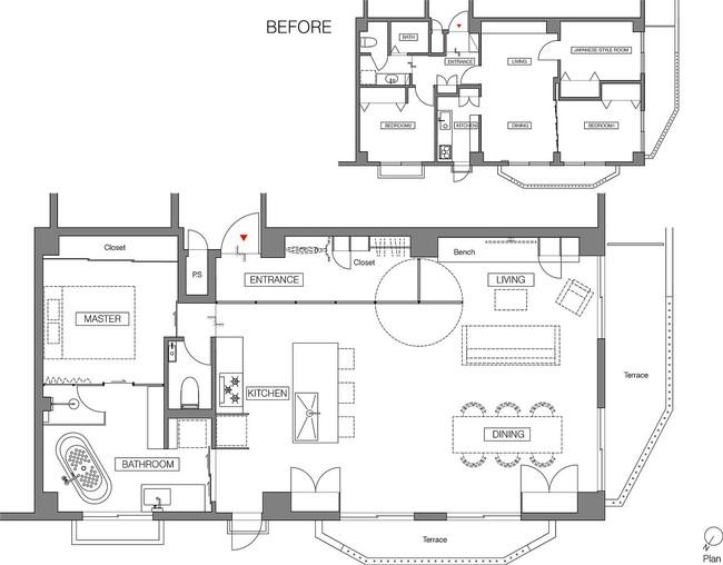 Ấn tượng với cách cải tạo căn hộ ở Nhật Bản với cửa xoay, tường kính và kết cấu đa dạng - Ảnh 11.
