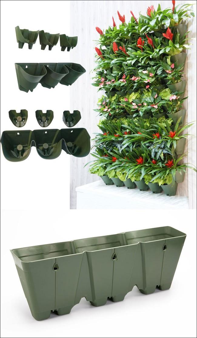 8 thiết kế chậu trồng cây vừa nhỏ gọn lại vô cùng thông minh cho nhà thêm xanh mát   - Ảnh 6.