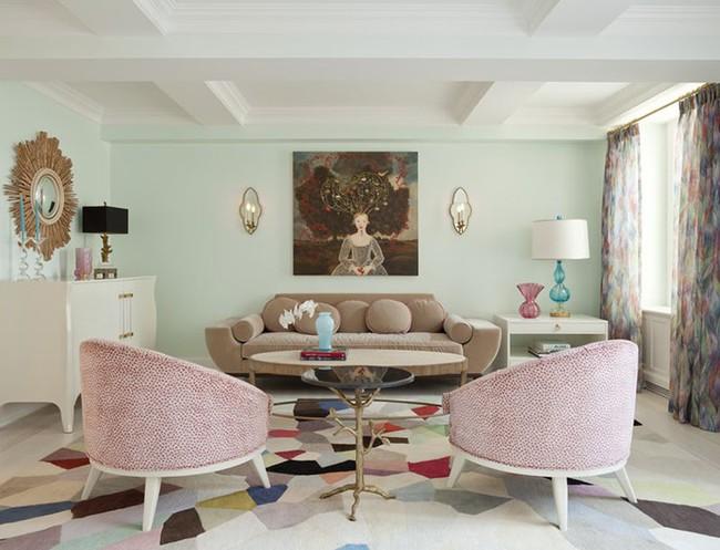 Cho phòng khách vẻ đẹp mơ màng để đón thu sang với gam màu pastel  - Ảnh 4.