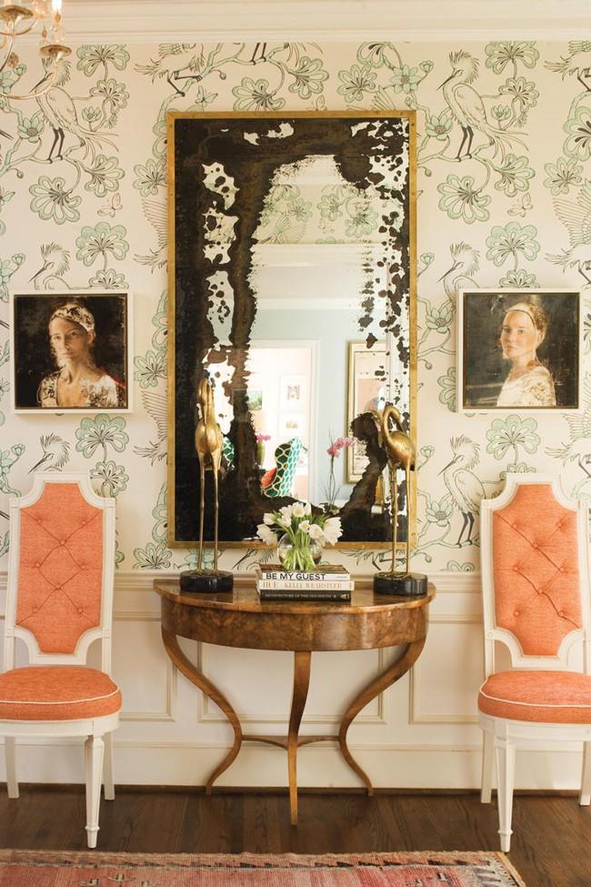 Khi muốn căn nhà nhỏ luôn ngập tràn sức sống thì đừng quên giấy dán tường họa tiết hoa lá - Ảnh 9.