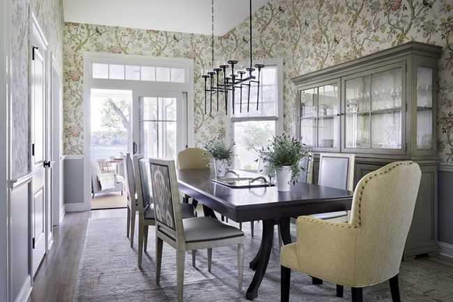 Khi muốn căn nhà nhỏ luôn ngập tràn sức sống thì đừng quên giấy dán tường họa tiết hoa lá - Ảnh 14.
