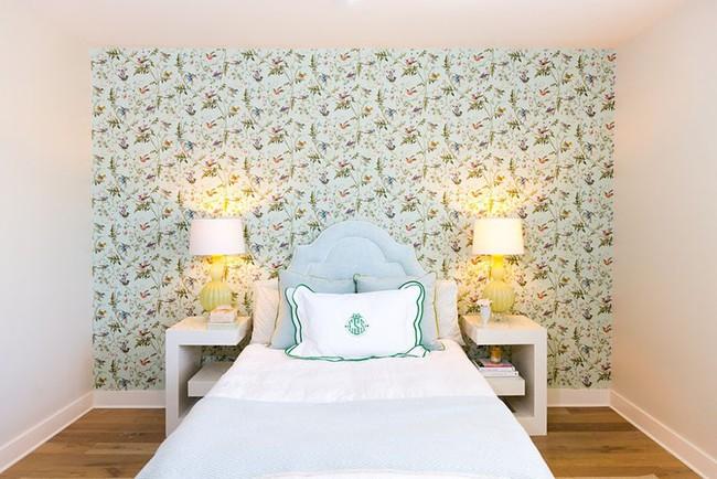 Khi muốn căn nhà nhỏ luôn ngập tràn sức sống thì đừng quên giấy dán tường họa tiết hoa lá - Ảnh 16.