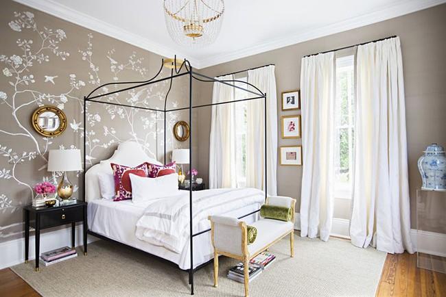 Khi muốn căn nhà nhỏ luôn ngập tràn sức sống thì đừng quên giấy dán tường họa tiết hoa lá - Ảnh 17.