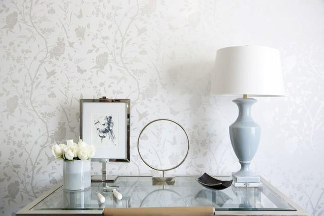 Khi muốn căn nhà nhỏ luôn ngập tràn sức sống thì đừng quên giấy dán tường họa tiết hoa lá - Ảnh 6.