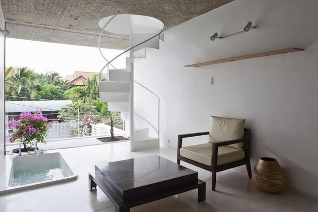Ngôi nhà tối giản có màu trắng tinh khôi nổi bật trên đường phố Sài Gòn của người phụ nữ 30 tuổi - Ảnh 11.